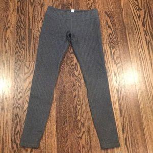 Grey and black herringbone Ivivva leggings